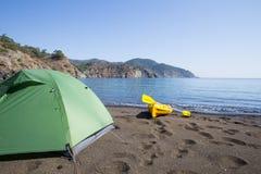 camping na plaży Obraz Stock