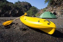 camping na plaży Zdjęcia Stock