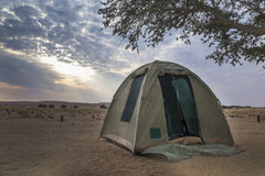 Camping in Namibia Stock Images