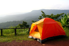 Camping in nation park Royalty Free Stock Image