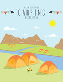 Camping in the natural atmosphere. (Day). Illustration vector of camping in the natural atmosphere. (Day royalty free illustration