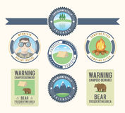 Camping and nature design elements royalty free illustration