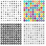 100 camping and nature icons set vector variant. 100 camping and nature icons set vector in 4 variant for any web design isolated on white Stock Illustration