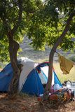Camping in nature, in the mountains of Georgia, Borjomi in summer royalty free stock image