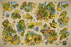 Camping nature symbols and objects Royalty Free Stock Images