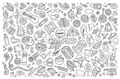 Camping nature symbols and objects Royalty Free Stock Photography