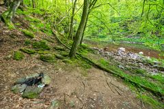 Camping near Jizera river Royalty Free Stock Photos