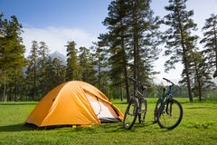 Camping stock photography