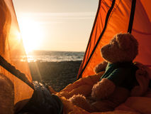 Camping near the sea Royalty Free Stock Images