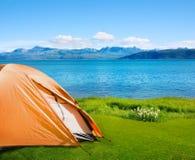 Camping near sea Royalty Free Stock Photography