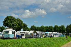 Camping in The Netherlands Royalty Free Stock Image