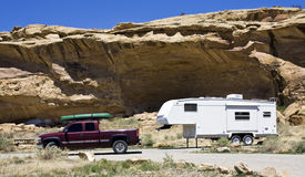 Camping in New Mexico Stock Photo