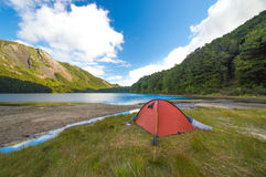 Camping in New Zealand Royalty Free Stock Photography