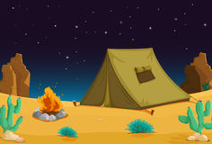 Camping at night Stock Image