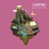 Camping at night Stock Photography