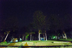 Camping at night , Huai Kha Khaeng Wildlife Sanctuary, Thailand, Stock Image
