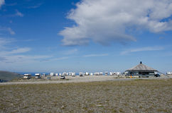 Camping at the North Cape/ Nordkapp, Norway Royalty Free Stock Photo