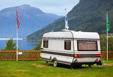 Camping in Norway Stock Images