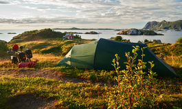 Camping in norway Stock Photos