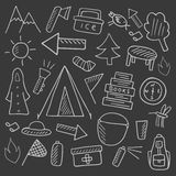 Camping objects collection Royalty Free Stock Photo
