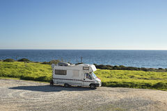 Camping on the ocean Stock Photo