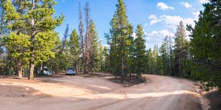 Camping at Monarch Pass in Colorado. Camping in one of the many camping spots west of the old Monarch Pass in Colorado royalty free stock photography