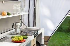 Camping Or Glamping Royalty Free Stock Photos