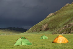Camping in Orkhon valley Stock Photography