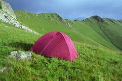 Camping Oslea Mountain. Camping on Oslea Mountain ridge. Over night rest place Oslea Mountain ridge Royalty Free Stock Image