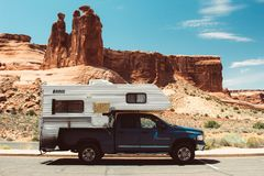 Camping out in Utah. Royalty Free Stock Photos