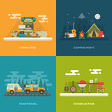 Camping Outdoor Activity Concept Backgrounds Stock Image