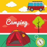 Camping outdoor Stock Images