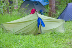 Camping outdoor Stock Image