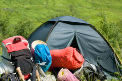 Camping outdoors Royalty Free Stock Images