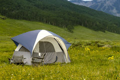 Camping Outdoors in the Mountains of Colorado Royalty Free Stock Images