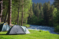 Camping outdoors Royalty Free Stock Photography