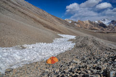 Camping in Pamir Stock Image