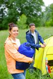 Camping in the park Royalty Free Stock Photos