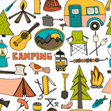 Camping pattern Royalty Free Stock Photography