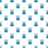 Camping pattern seamless. In flat style for any design Royalty Free Stock Photography