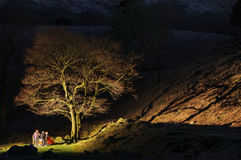 Camping Peak district England royalty free stock photography