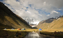 Camping in the Peruvian mountains Stock Photos