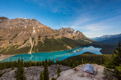 Camping at Peyto Lake Royalty Free Stock Images