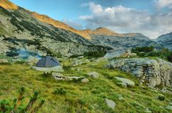Camping in the Pirin mountains,Bulgaria, HDR Stock Photography