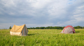 Camping place Stock Image