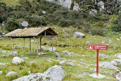 Camping place in the Andes mountains Royalty Free Stock Image