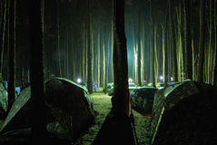Camping. Place for camping at Doi Intanon, Chiangmai Stock Image