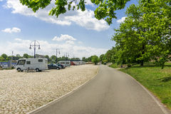 Camping place in Magdeburg, Germany Stock Photos