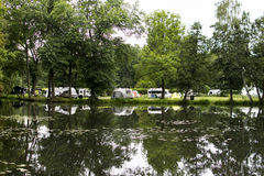 Camping place in the Spreewald Royalty Free Stock Image