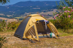 Camping Place Valley royalty free stock images